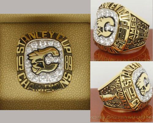 1989 NHL Championship Rings Calgary Flames Stanley Cup Ring