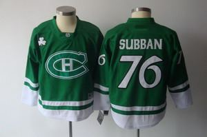 2011 st pattys day montreal canadiens 76 subban green jerseys