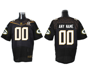932c76a45 Nike NFL Green Bay Packers 2016 PRO BOWL Black Men s Stitched Elite  Customized Jersey