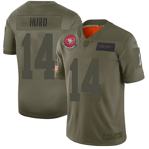 49ers #14 Jalen Hurd Camo Youth Stitched Football Limited 2019 Salute to Service Jersey