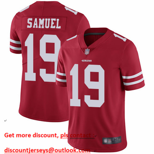 49ers #19 Deebo Samuel Red Team Color Men's Stitched Football Vapor Untouchable Limited Jersey