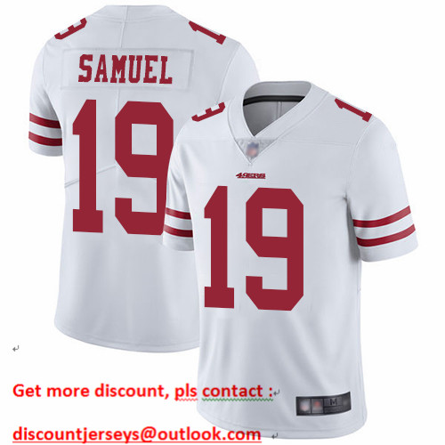 49ers #19 Deebo Samuel White Men's Stitched Football Vapor Untouchable Limited Jersey