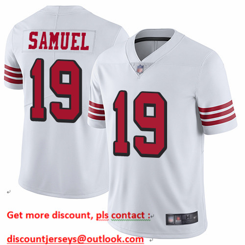 49ers #19 Deebo Samuel White Rush Men's Stitched Football Vapor Untouchable Limited Jersey