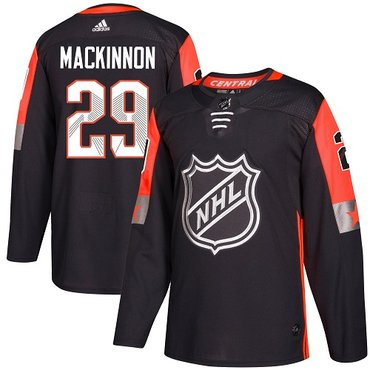 Adidas Avalanche #29 Nathan MacKinnon Black 2018 All-Star Central Division Authentic Stitched Youth NHL Jersey