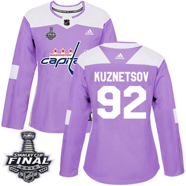 c776e630b17 Adidas Capitals  92 Evgeny Kuznetsov Purple Authentic Fights Cancer 2018  Stanley Cup Final Women s Stitched NHL Jersey
