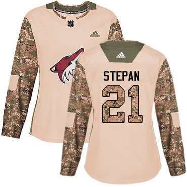 Adidas Coyotes  21 Derek Stepan Camo Authentic 2017 Veterans Day Women s Stitched  NHL Jersey 42246d47d