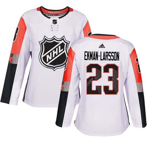 Adidas Coyotes #23 Oliver Ekman-Larsson White 2018 All-Star Pacific Division Authentic Women's Stitched NHL Jersey