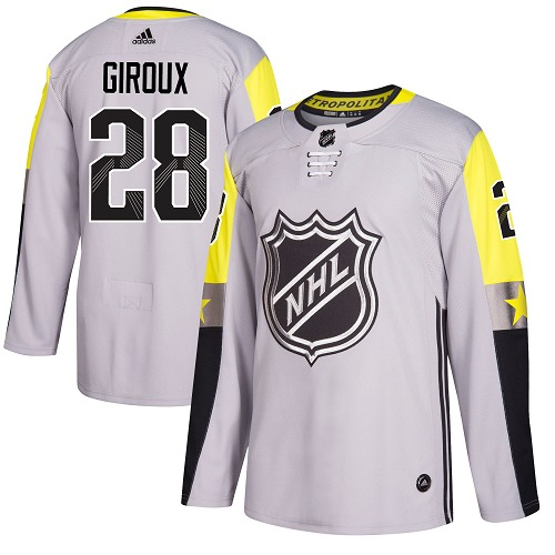 Adidas Flyers #28 Claude Giroux Gray 2018 All-Star Metro Division Authentic Stitched Youth NHL Jersey