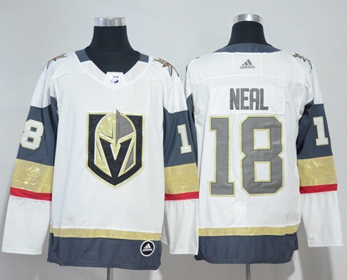 85661670d Adidas Golden Knights  18 James Neal White Road Authentic Stitched NHL  Jersey