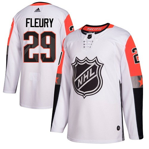 Adidas Golden Knights #29 Marc-Andre Fleury White 2018 All-Star Pacific Division Authentic Stitched Youth NHL Jersey
