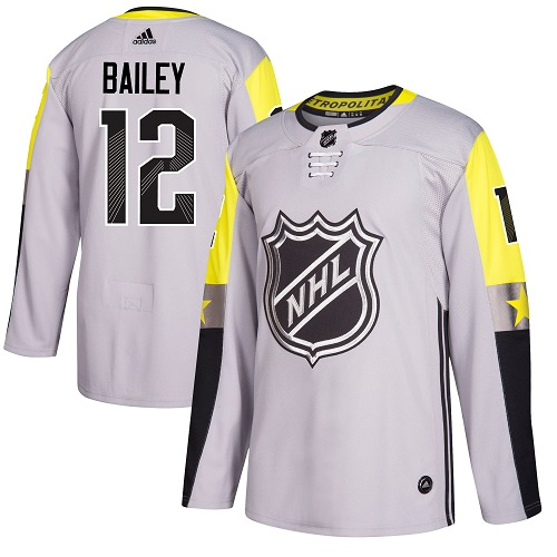 Adidas Islanders #12 Josh Bailey Gray 2018 All-Star Metro Division Authentic Stitched Youth NHL Jersey