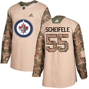Adidas Jets #55 Mark Scheifele Camo Authentic 2017 Veterans Day Stitched Youth NHL Jersey