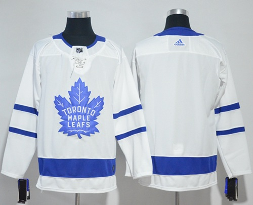 f0e0ca951 Adidas Maple Leafs Blank White Road Authentic Stitched NHL Jersey