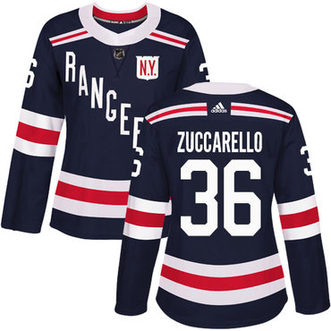 2c0283261 Adidas Rangers #36 Mats Zuccarello Navy Blue Authentic 2018 Winter Classic  Women's Stitched NHL Jersey