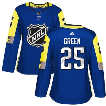 Adidas Red Wings #25 Mike Green Royal 2018 All-Star Atlantic Division Authentic Women's Stitched NHL Jersey