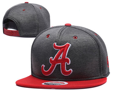 Alabama Crimson Tide Team Logo Gray Adjustable Hat GS