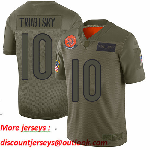 Bears #10 Mitchell Trubisky Camo Youth Stitched Football Limited 2019 Salute to Service Jersey