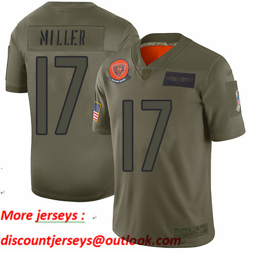 Bears #17 Anthony Miller Camo Youth Stitched Football Limited 2019 Salute to Service Jersey