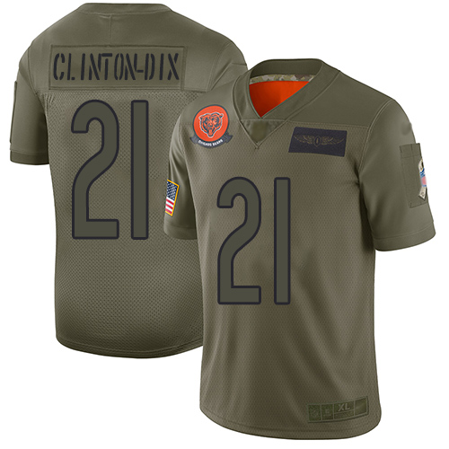 Bears #21 Ha Ha Clinton-Dix Camo Men's Stitched Football Limited 2019 Salute To Service Jersey