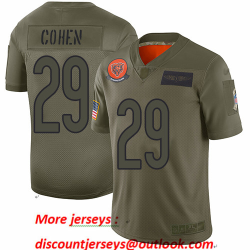 Bears #29 Tarik Cohen Camo Youth Stitched Football Limited 2019 Salute to Service Jersey