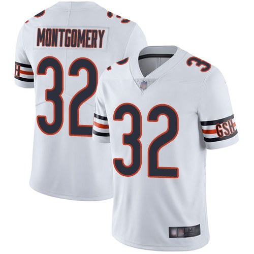 Bears #32 David Montgomery White Men's Stitched Football Vapor Untouchable Limited Jersey