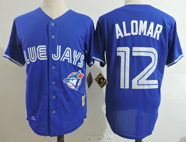 timeless design f1624 6c246 Blue Jays 12 Roberto Alomar Blue 1993 Cooperstown Collection ...