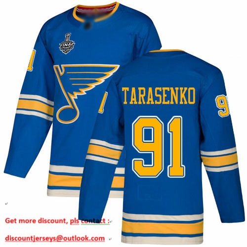 Blues #91 Vladimir Tarasenko Blue Alternate Authentic Stanley Cup Final Bound Stitched Hockey Jersey