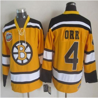 a8af64a19 Boston Bruins  4 Bobby Orr Yellow Winter Classic CCM Throwback Stitched NHL  Jersey