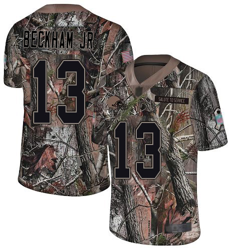 Browns #13 Odell Beckham Jr Camo Men's Stitched Football Limited Rush Realtree Jersey