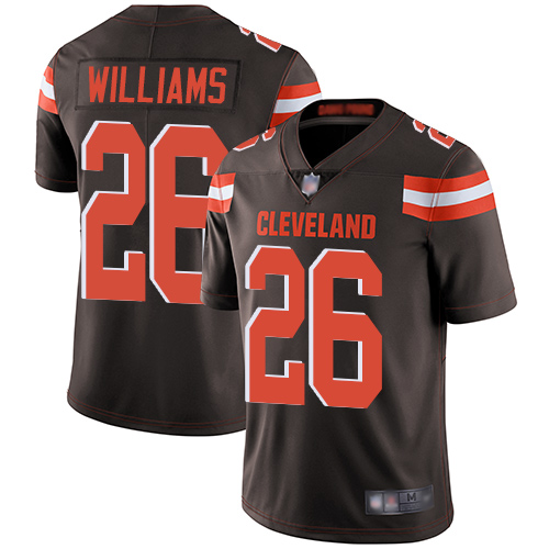 Browns #26 Greedy Williams Brown Team Color Men's Stitched Football Vapor Untouchable Limited Jersey