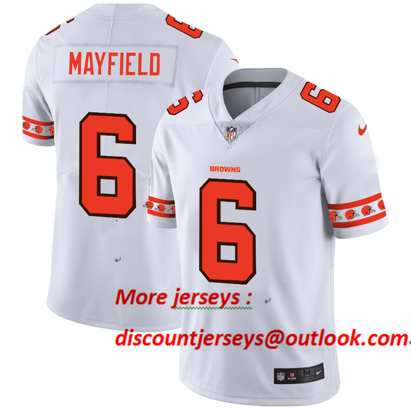 Browns 6 Baker Mayfield White 2019 New Vapor Untouchable Limited Jersey