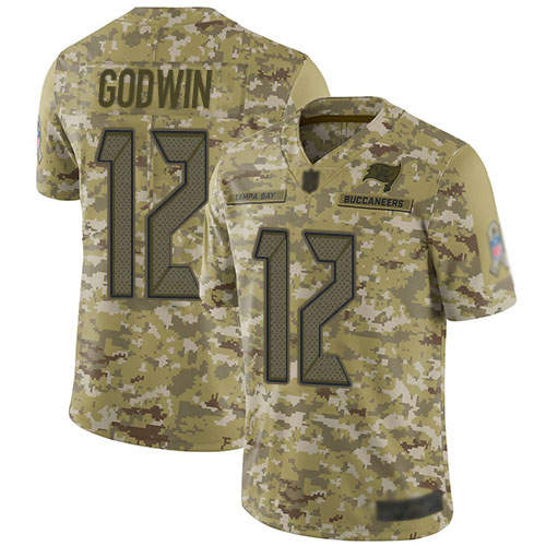 Buccaneers #12 Chris Godwin Camo Men's Stitched Football Limited 2018 Salute To Service Jersey
