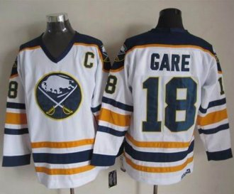 7a829947846 Buffalo Sabres #18 Danny Gare White CCM Throwback Stitched NHL Jersey