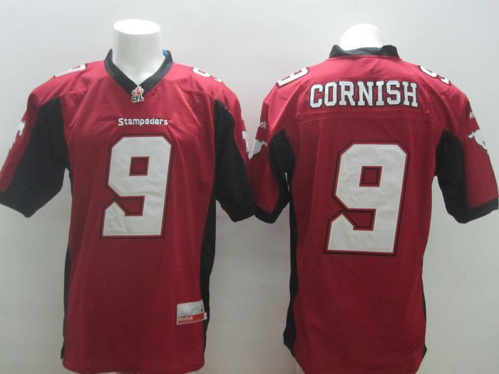 Calgary Stampeders #9 Cornish Red Stitched CFL Jersey