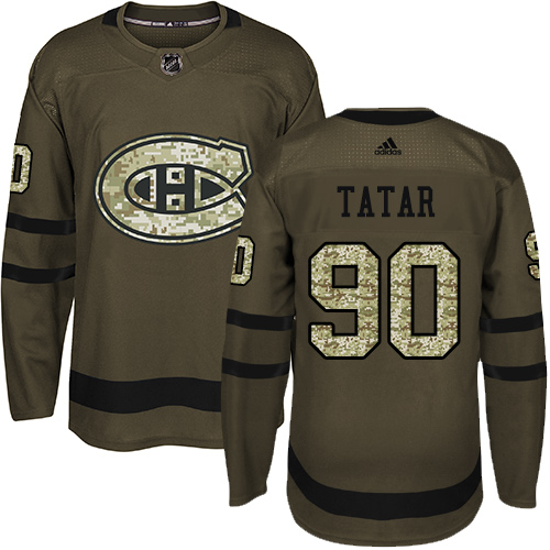Canadiens #90 Tomas Tatar Green Salute to Service Stitched Hockey Jersey