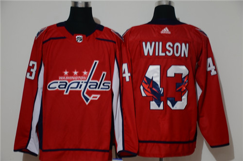 Capitals 43 Tom Wilson Red Adidas Fashion Jersey