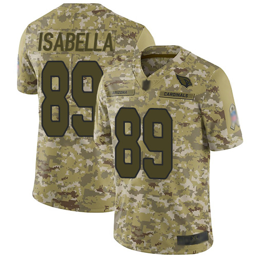 Cardinals #89 Andy Isabella Camo Men's Stitched Football Limited 2018 Salute to Service Jersey