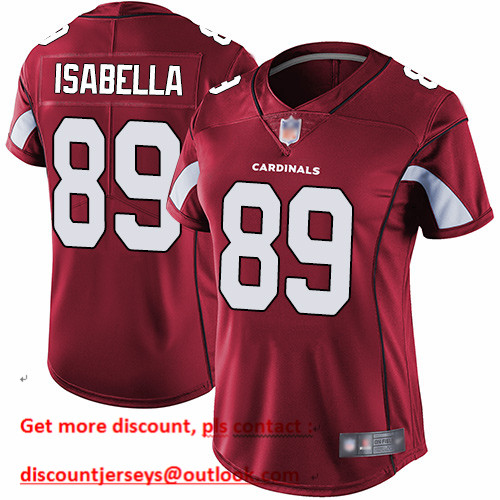 Cardinals #89 Andy Isabella Red Team Color Women's Stitched Football Vapor Untouchable Limited Jersey