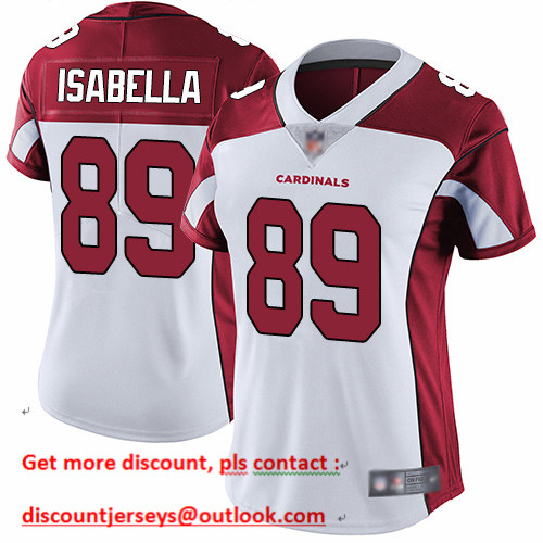 Cardinals #89 Andy Isabella White Women's Stitched Football Vapor Untouchable Limited Jersey
