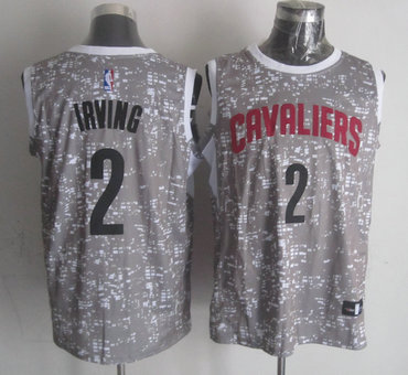 new product a7bf3 c9589 Cavaliers 2 Kyrie Irving Gray City Luminous Jersey