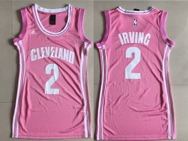 a9af0ff3bc3 Cavaliers 2 Kyrie Irving Pink Women Swingman Jersey