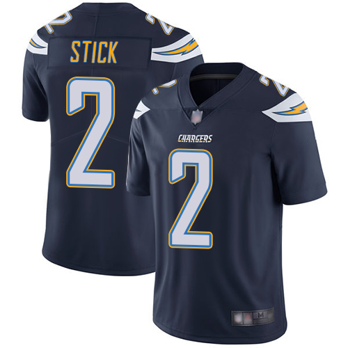 Chargers #2 Easton Stick Navy Blue Team Color Men's Stitched Football Vapor Untouchable Limited Jersey