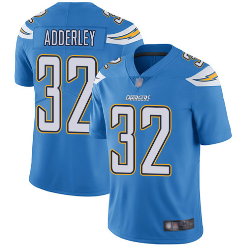 Chargers #32 Nasir Adderley Electric Blue Alternate Men's Stitched Football Vapor Untouchable Limited Jersey