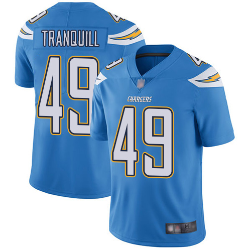 Chargers #49 Drue Tranquill Electric Blue Alternate Men's Stitched Football Vapor Untouchable Limited Jersey