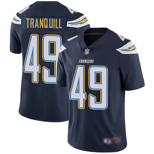 Chargers #49 Drue Tranquill Navy Blue Team Color Men's Stitched Football Vapor Untouchable Limited Jersey