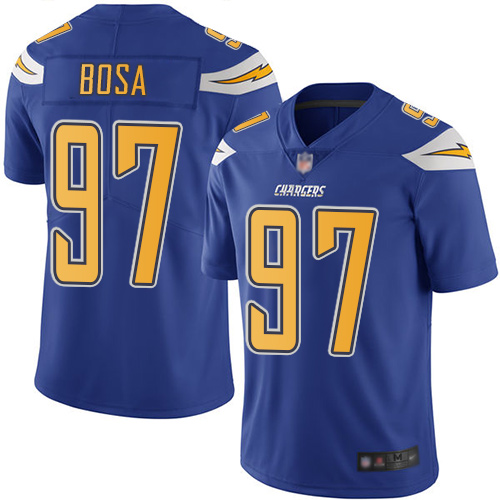 Chargers #97 Joey Bosa Electric Blue Men's Stitched Football Limited Rush Jersey