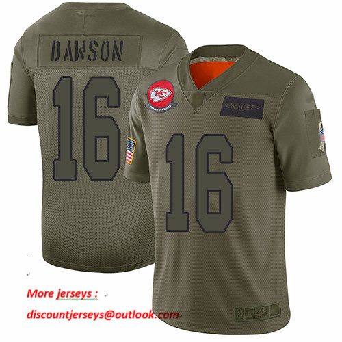 Chiefs #16 Len Dawson Camo Men's Stitched Football Limited 2019 Salute To Service Jersey