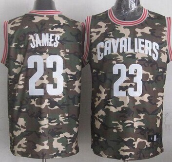 Cleveland Cavaliers  23 LeBron James Camo Stealth Collection Stitched NBA  Jersey 172a2e895