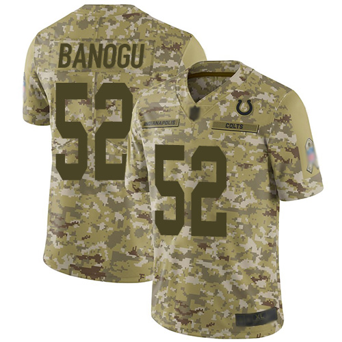 Colts #52 Ben Banogu Camo Men's Stitched Football Limited 2018 Salute To Service Jersey