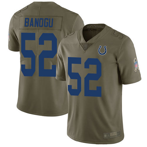 Colts #52 Ben Banogu Olive Men's Stitched Football Limited 2017 Salute To Service Jersey